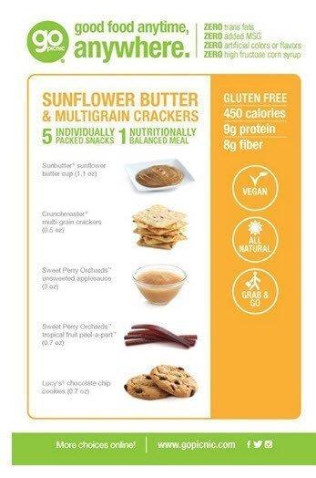 GoPicnic Ready-to-Eat Meals Tasty Favorites Variety Pack - Gluten-Free, Vegetarian