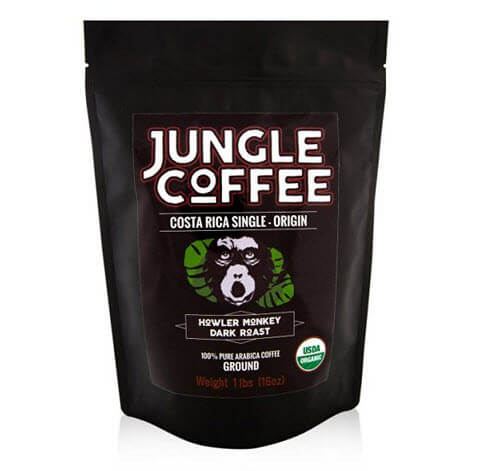 Ground Costa Rican Gourmet Organic Dark Roast Jungle Coffee
